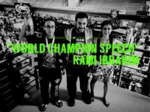 World Champion Speech by Rami Ibrahim – Team USA