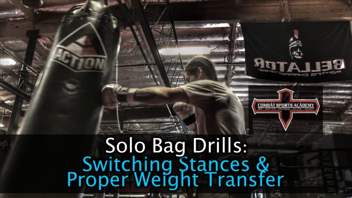 Striking from Both Stances Effortlessly & Proper Weight Transfer – Solo Bag Drill