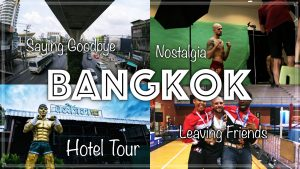 Bangkok. Leaving Friends. Haggling Taxis. Khongsittha Muay Thai Hotel Tour.