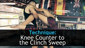 Knee Counter to the Clinch Sweep | Regaining Balance and Control