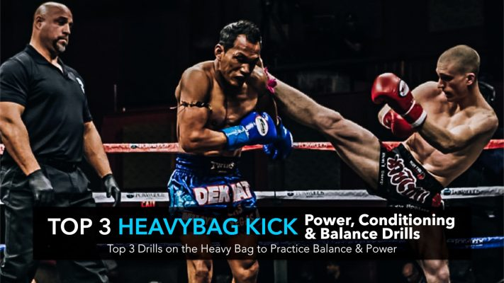 Advanced Kick Conditioning Drills | Top 3 Heavy Bag Kicking Power, Conditioning & Balance Drills