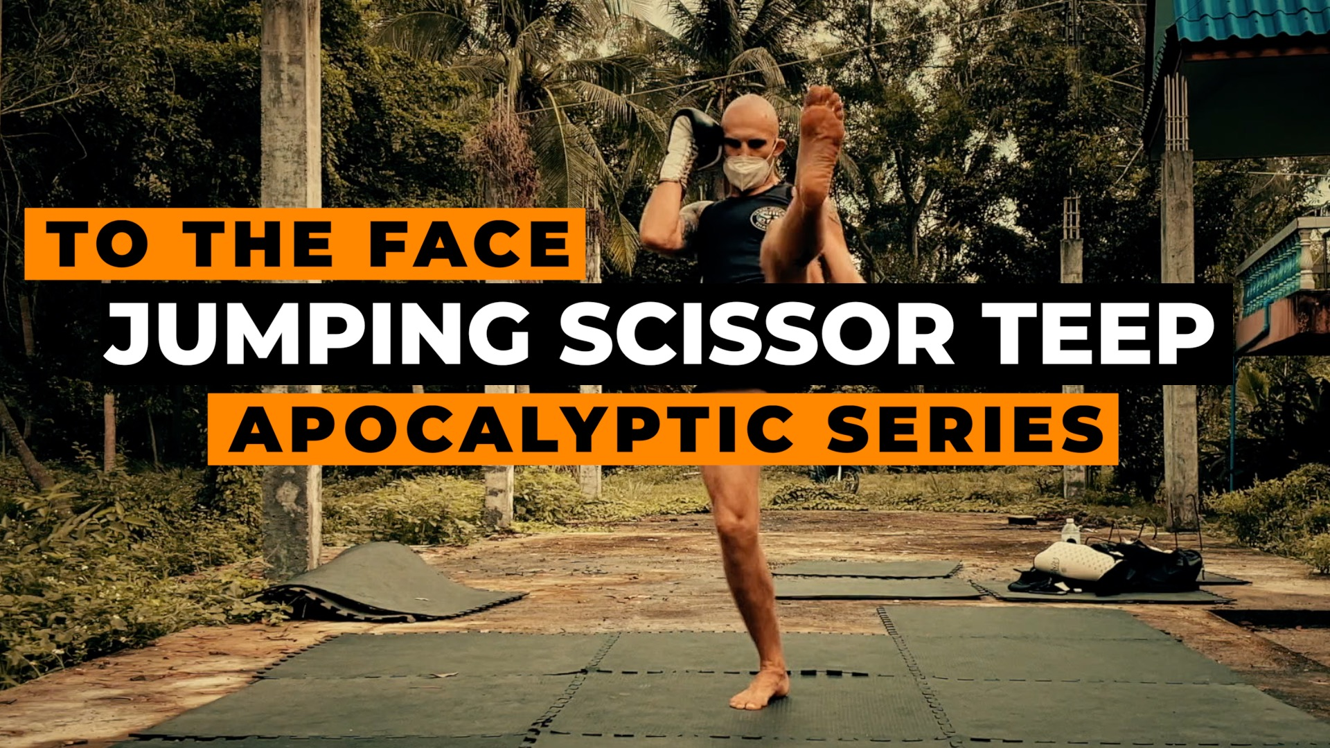Jumping Scissor Kick to the Face / Chest Muay Thai Style